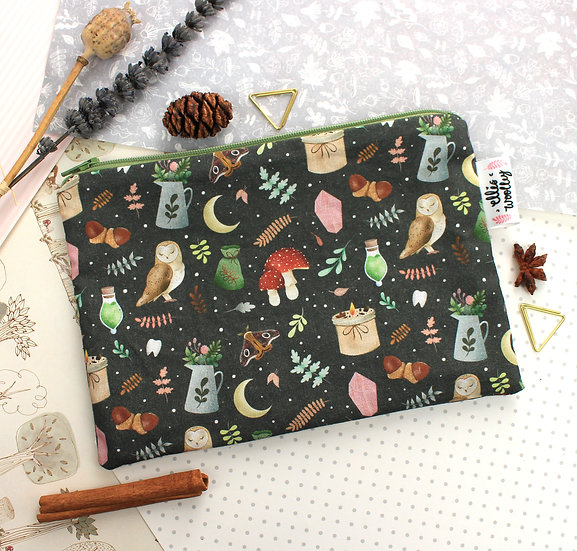 Handmade Pouch - Witchy Design