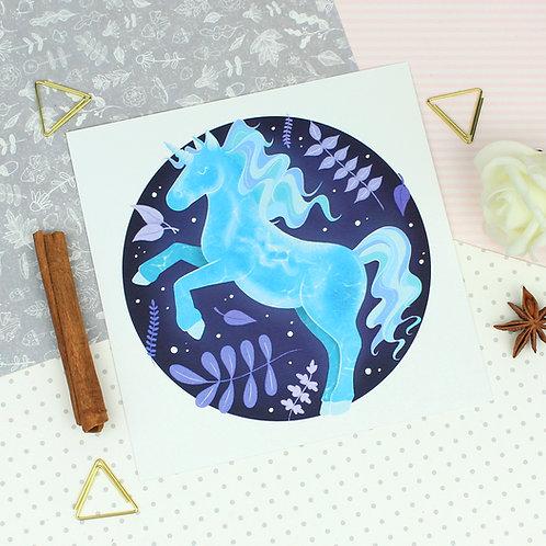 Water Spirit Unicorn Art Print