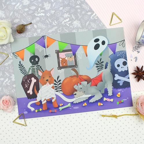 Custard & Vespa Halloween Print 2020
