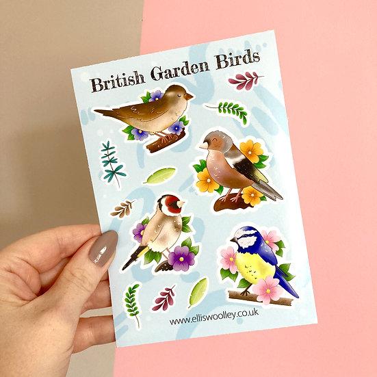 British Birds Sticker Sheet