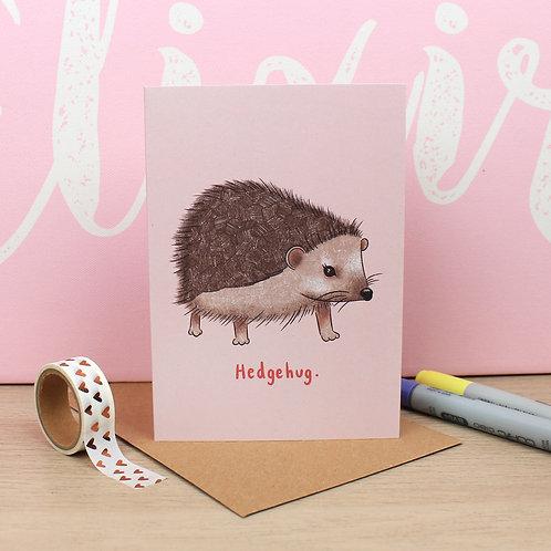 Hedgehug Valentines Card