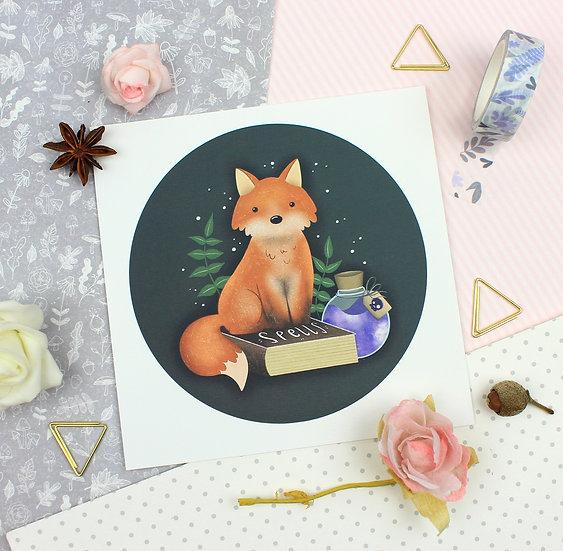 Spooky Fox Print