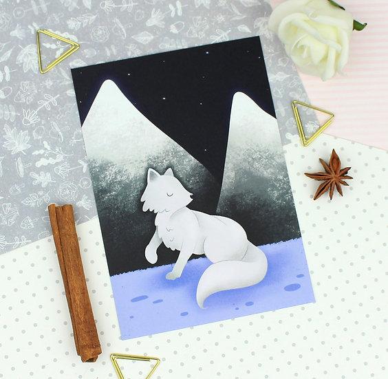 Arctic Fox Mini Print