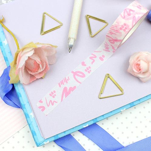 Pink Squiggles Washi Tape
