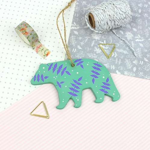 Handmade Clay Bear - Aries