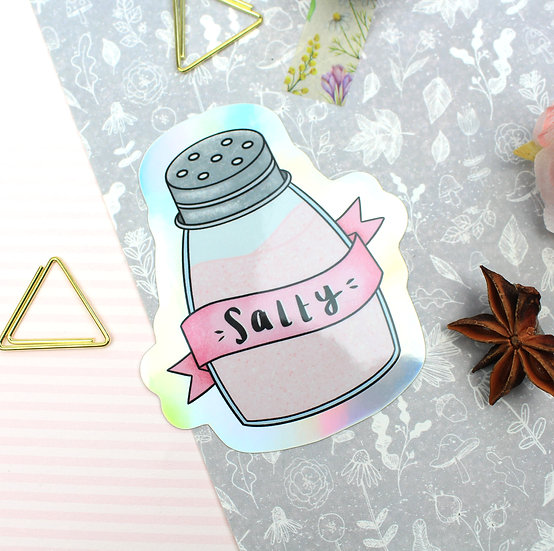 Salty Holographic Sticker