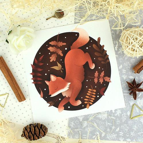 Autumnal Fox Art Print