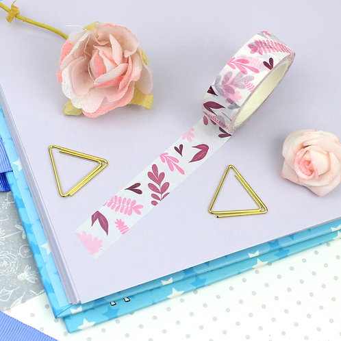 Pink Foliage Washi Tape