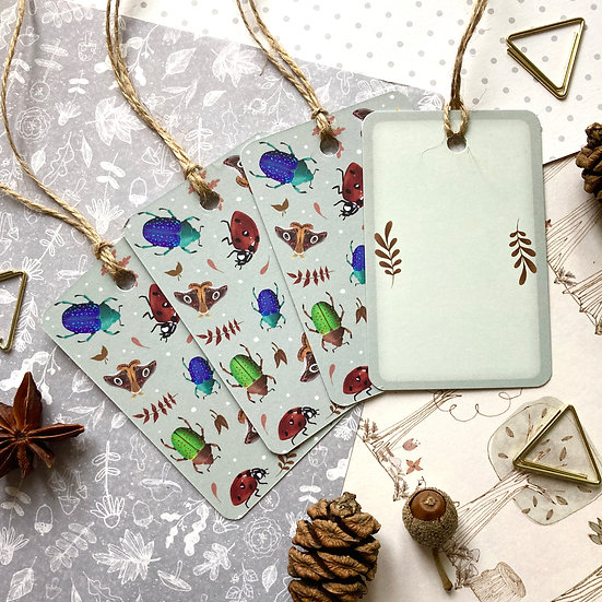 Pretty Crawlies Gift Tags Set of x5