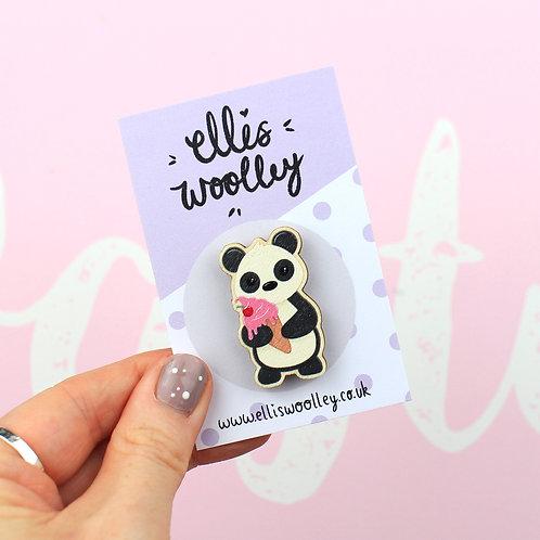 Panda Wooden Pin