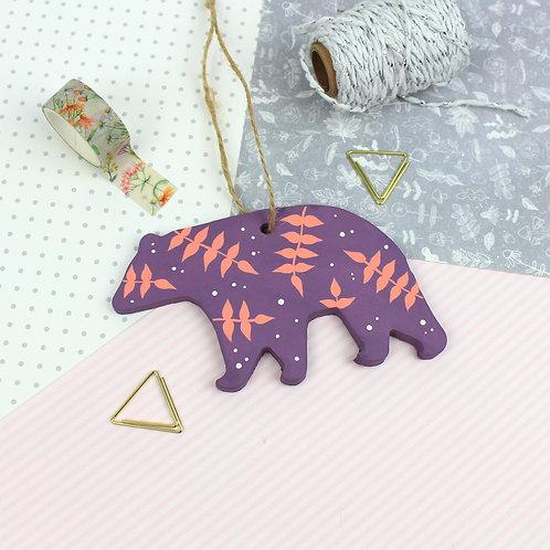 Handmade Clay Bear - Aurora