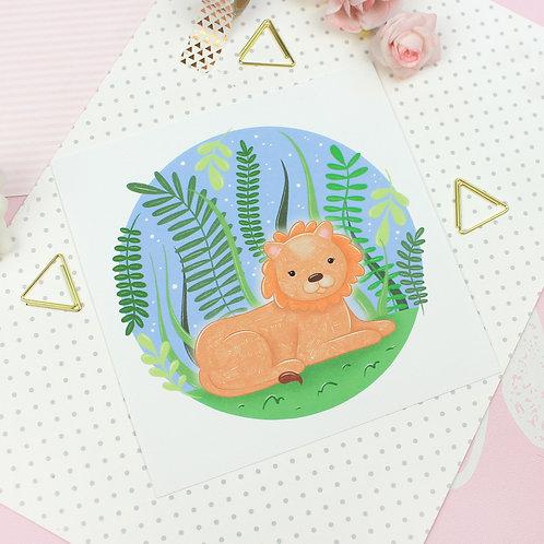 Little Lion Print