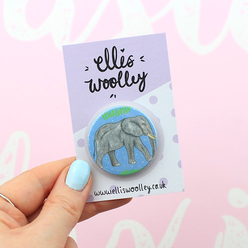 Elephant Button Badge