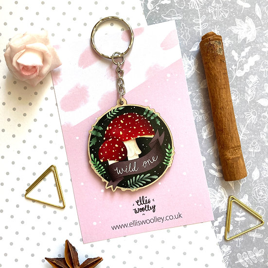Wild One Toadstools Key Ring