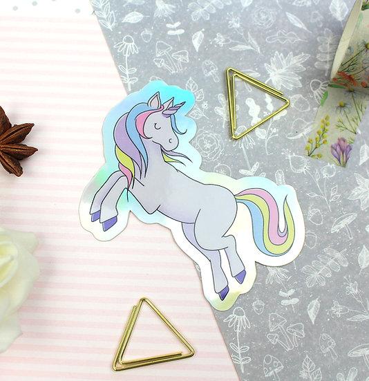 Unicorn Holographic Sticker
