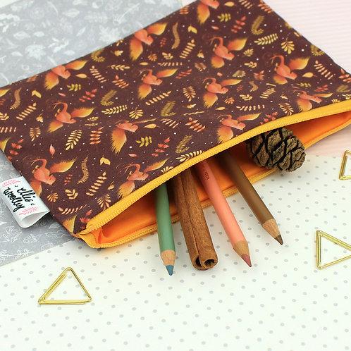 Handmade Pouch - Phoenix Design