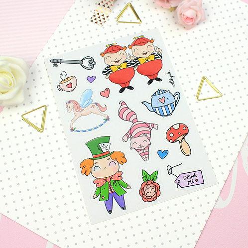 Wonderland Sticker Sheet