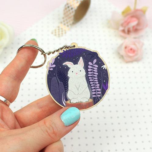 Midnight Rabbit Key Ring