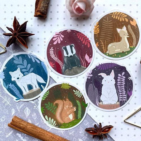 Woodland Animals Sticker Pack