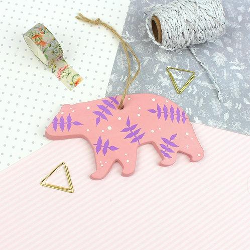 Handmade Clay Bear - Pandora