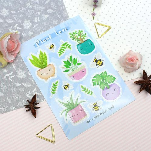 Plant Love Vinyl Sticker Sheet