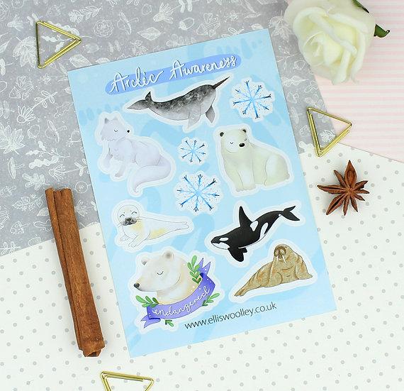 Arctic Awareness Sticker Sheet