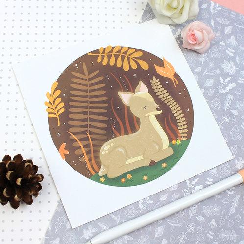 Midnight Deer Print