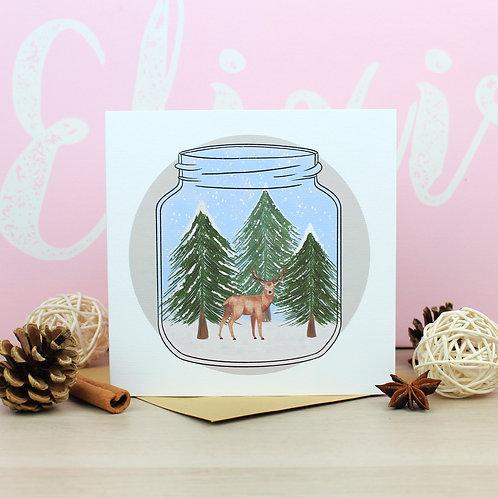 Winter Jar Christmas Card