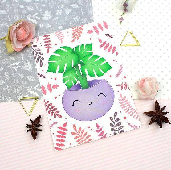 Monstera Plant Mini Print