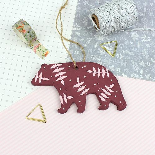 Handmade Clay Bear - Persephone