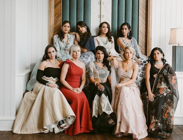 Sonia Chhabra wedding party