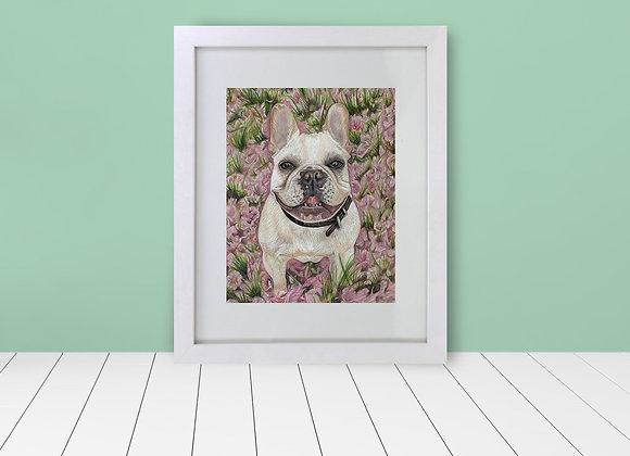 """Custom Framed & Matted Pet Portrait - Full Background - 8""""x10"""""""