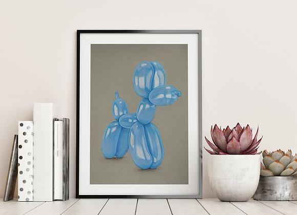 Blue Balloon Dog - Original Art