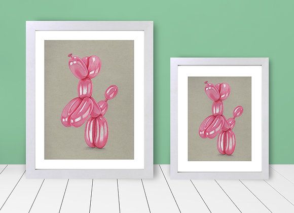 Framed Print - Balloon Animal Pink