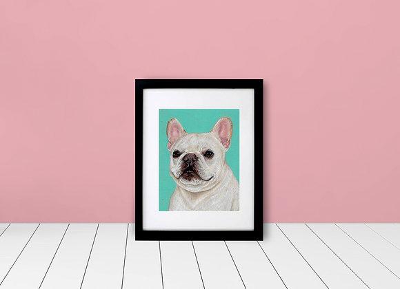 """Custom Framed & Matted Color Background Pet Portrait - 5""""x7"""""""