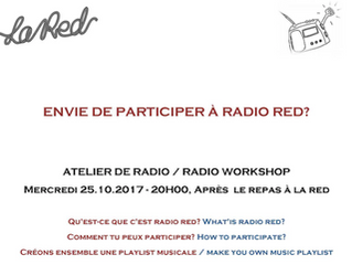 25.10.2017: Radio Workshop - Envie de faire de la Radio à la RED?
