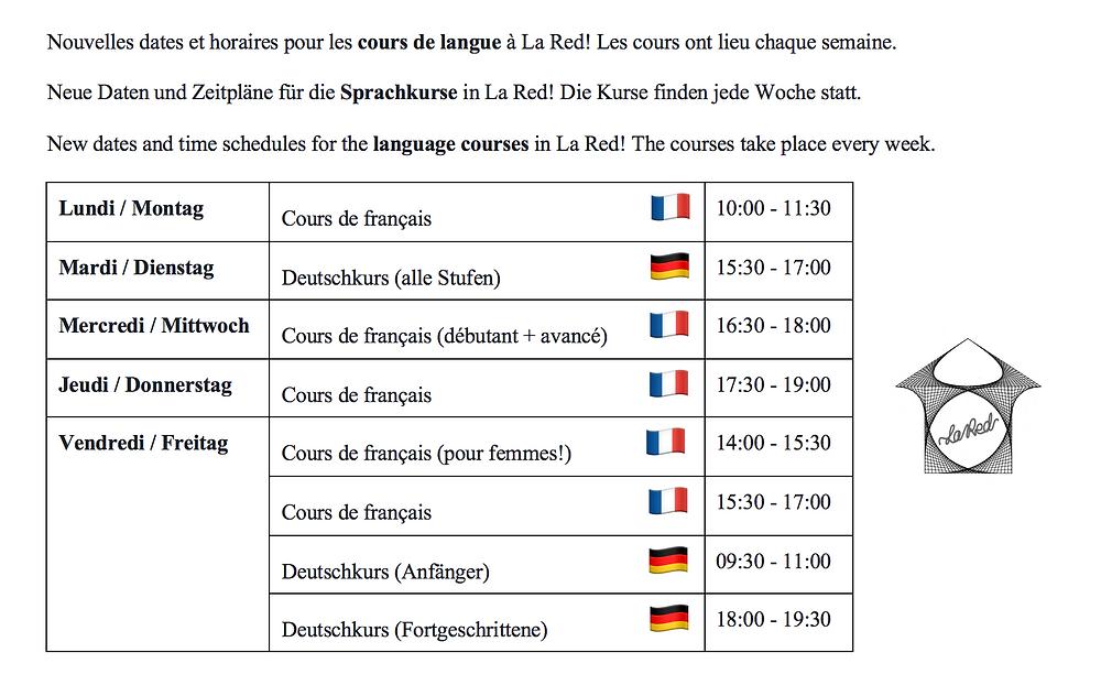 Cours de langue La Red