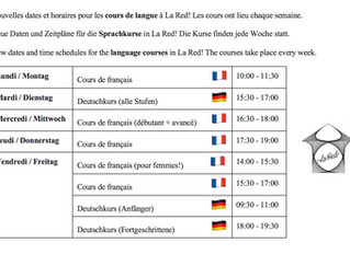 Cours de langue à la RED / Sprachkurse in der RED / language classes at la RED