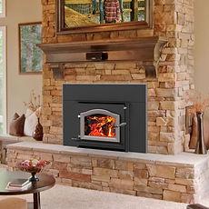 Kuma Cascade LE wood fireplace insert, m