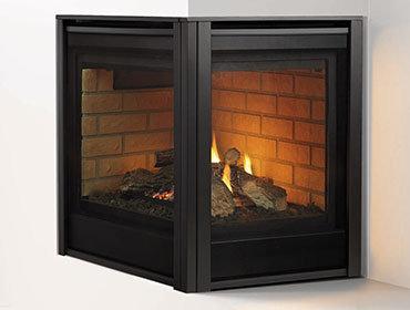 Heat N Glo Corner Series Multi-Side Gas Fireplace
