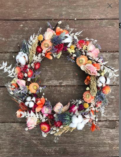 Dried flower, wreath, bouquet preservation