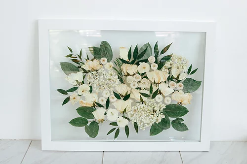 pressed flower bouquet, bridal bouquet, preserved
