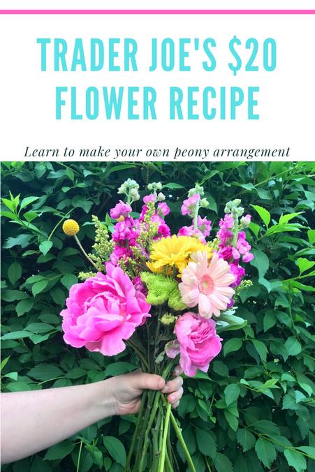 FREE Flower Recipe: Trader Joe's $20 Peony Challenge