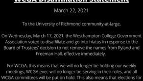 WCGA Disaffiliation Statement