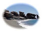 Beach rethymno Crete Greece