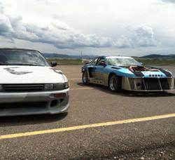 Race prepped Porsche at MAEC track