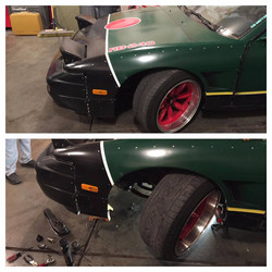 Angle kit before and after