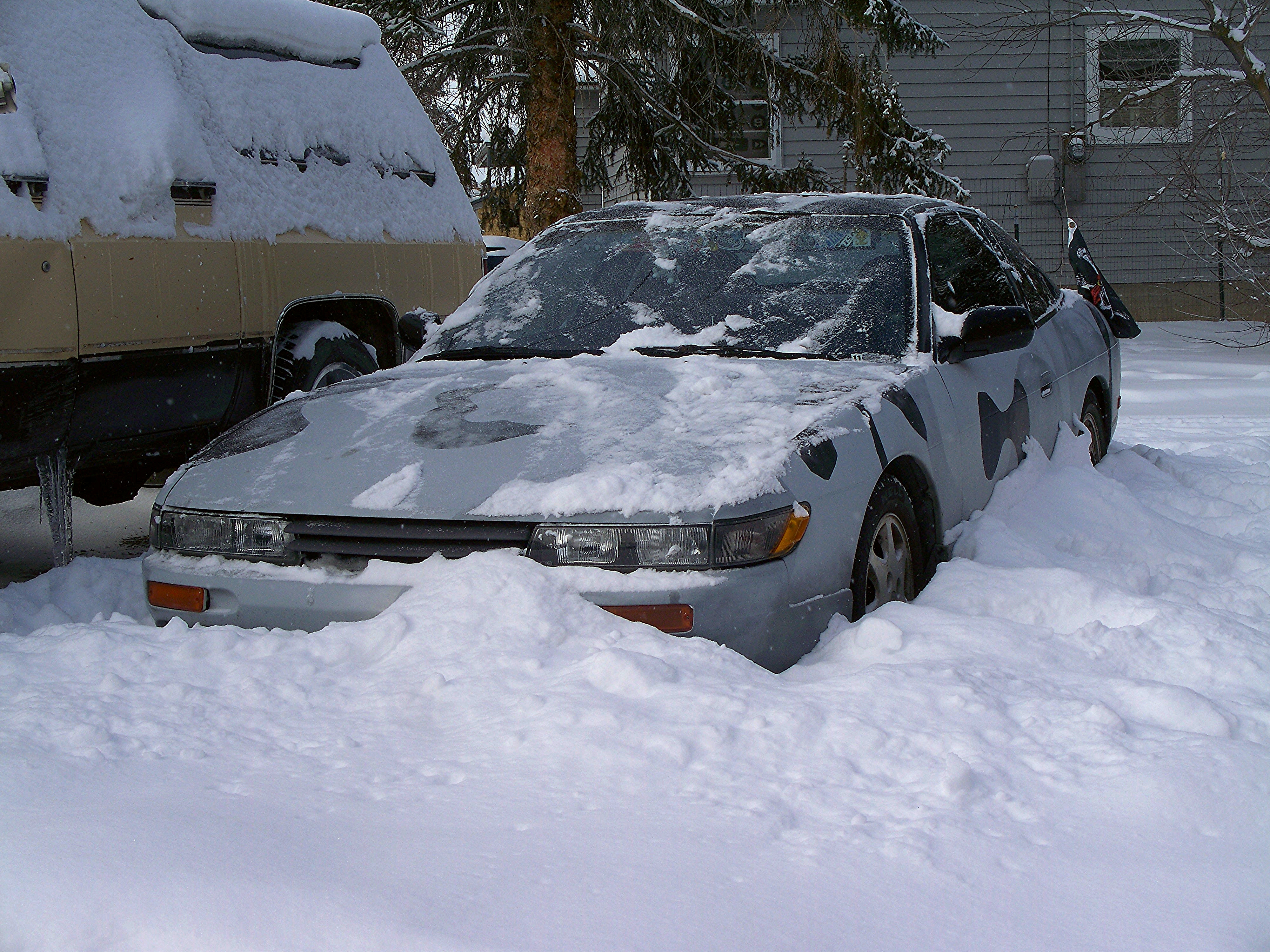 Buried in over 2 feet of snow
