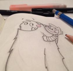 monster kid sketch