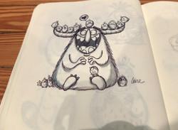 lovely monster sketch